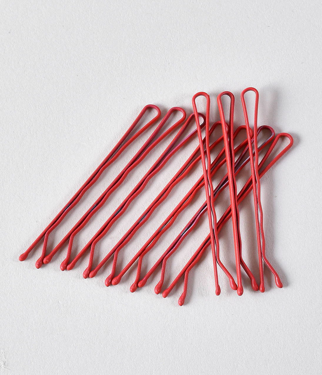 1940s Hairstyles- History of Women's Hairstyles Retro Style Red Matte Bobby Pins $10.00 AT vintagedancer.com