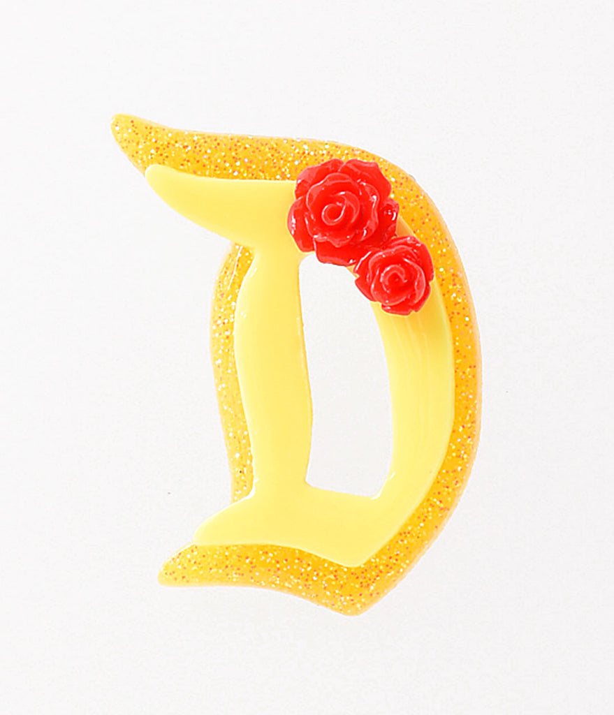 Retro Style Yellow Sparkle Beauty Fairytale Brooch