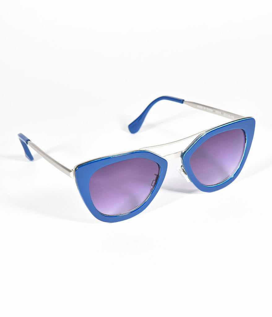 Blue Power Cat Eye Sunglasses
