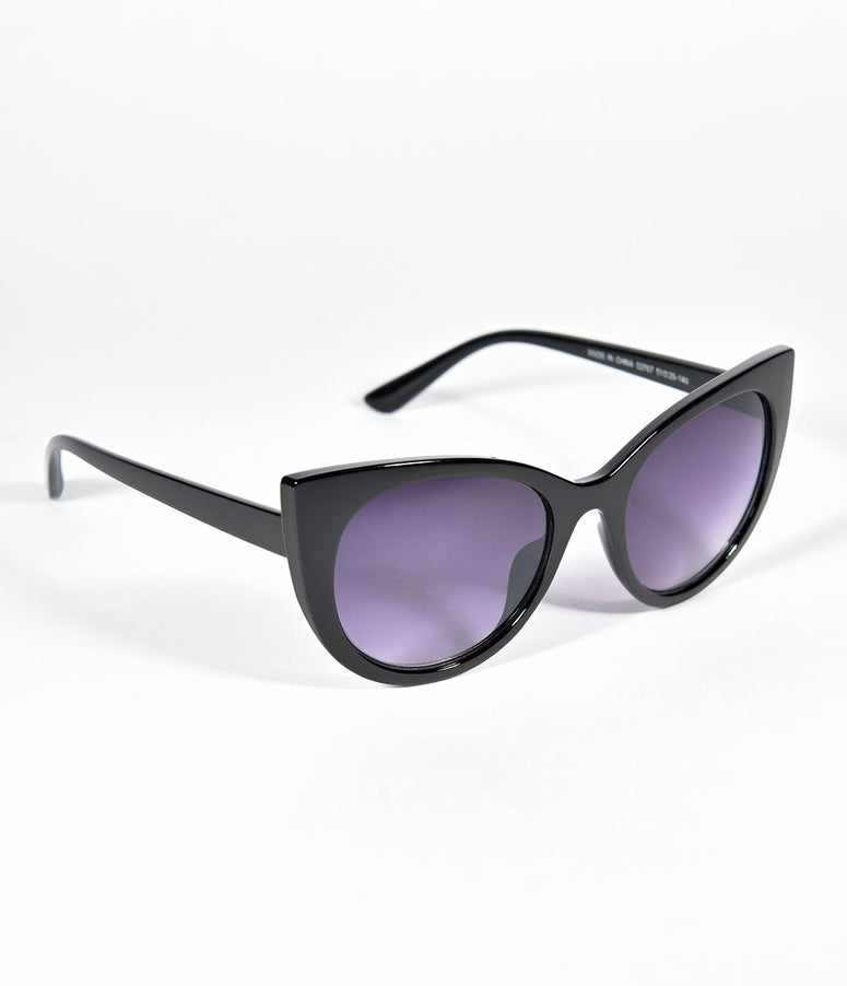 Black Buttercup Cat Eye Sunglasses