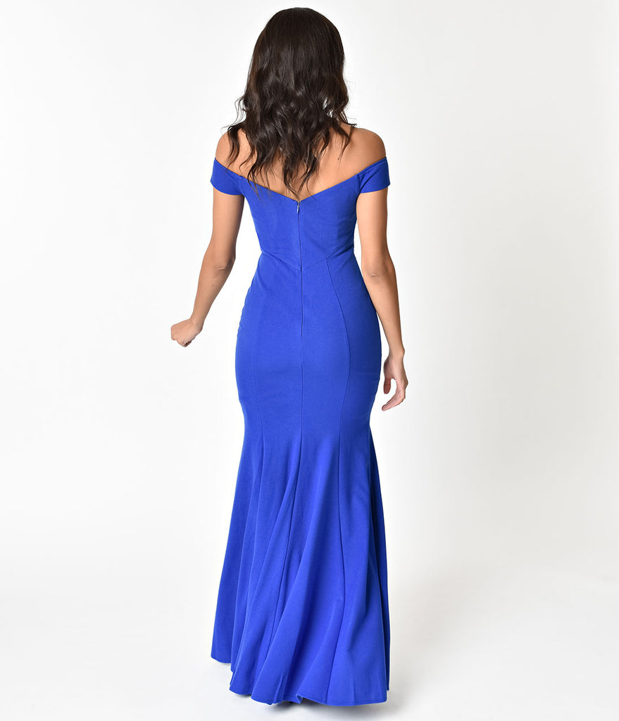 Royal Blue Sexy Mermaid Long Dress For Prom 2018