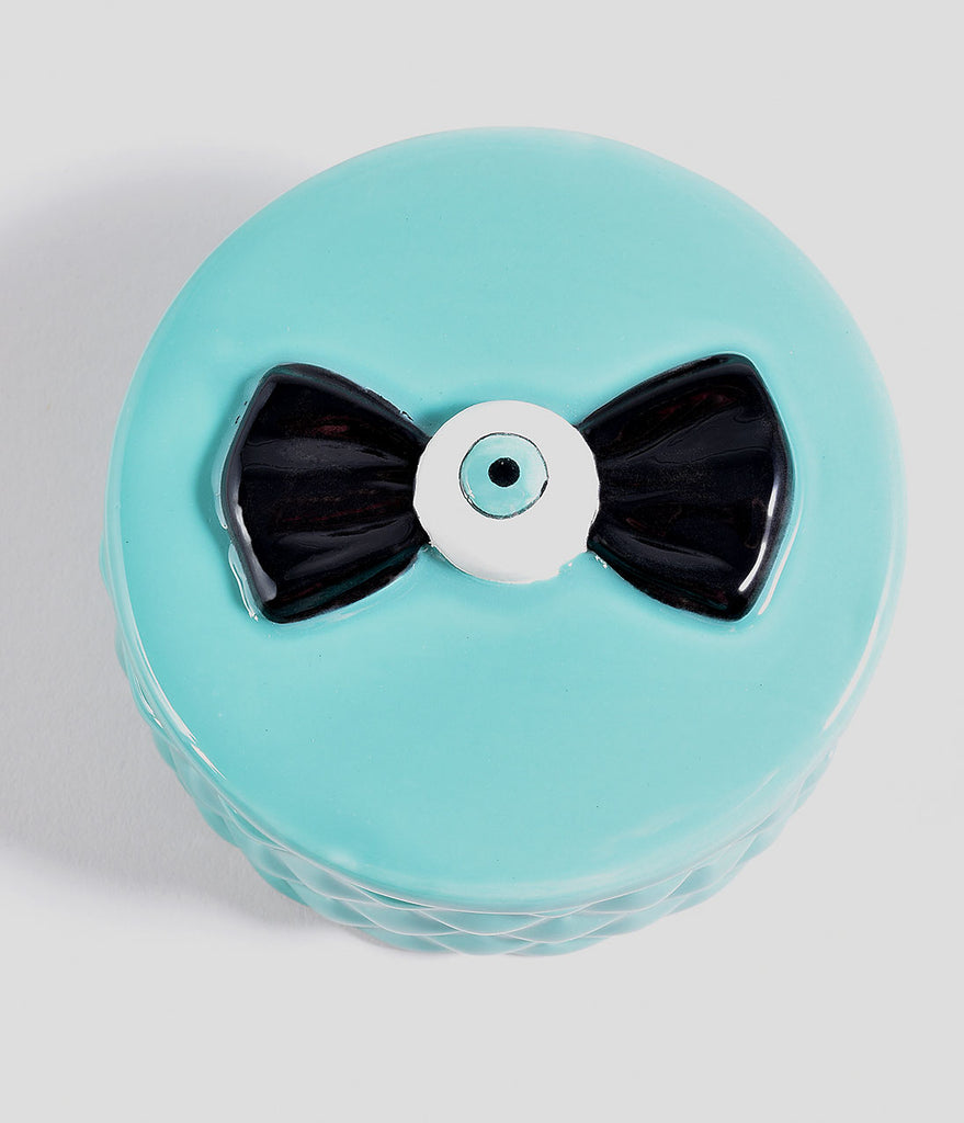Sourpuss Aqua Ceramic Eyeball Jewelry Box