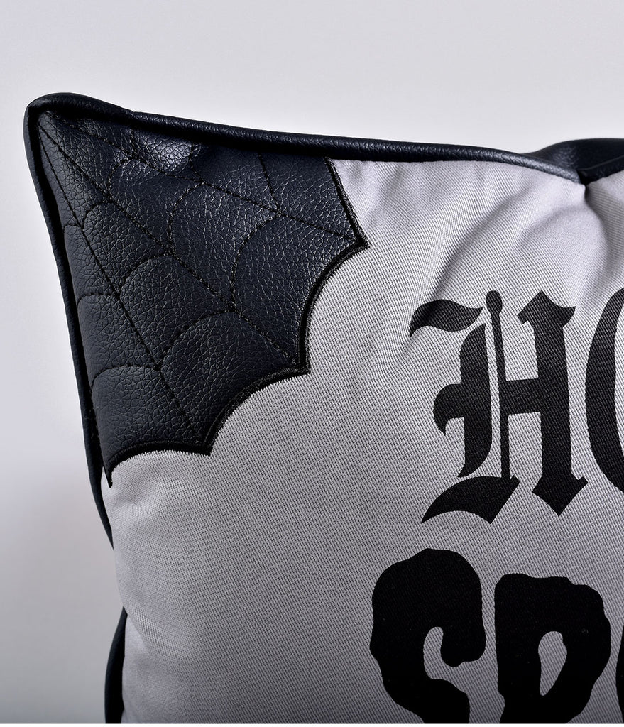 Sourpuss Black & Grey Home Spooky Home Pillow