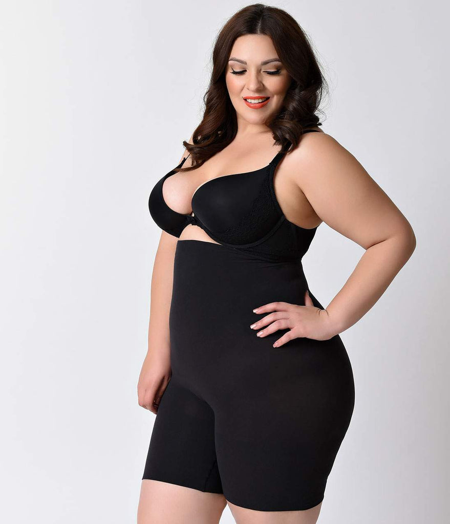 Spanx Plus Size Black Higher Power High Waist Shaper Shorts