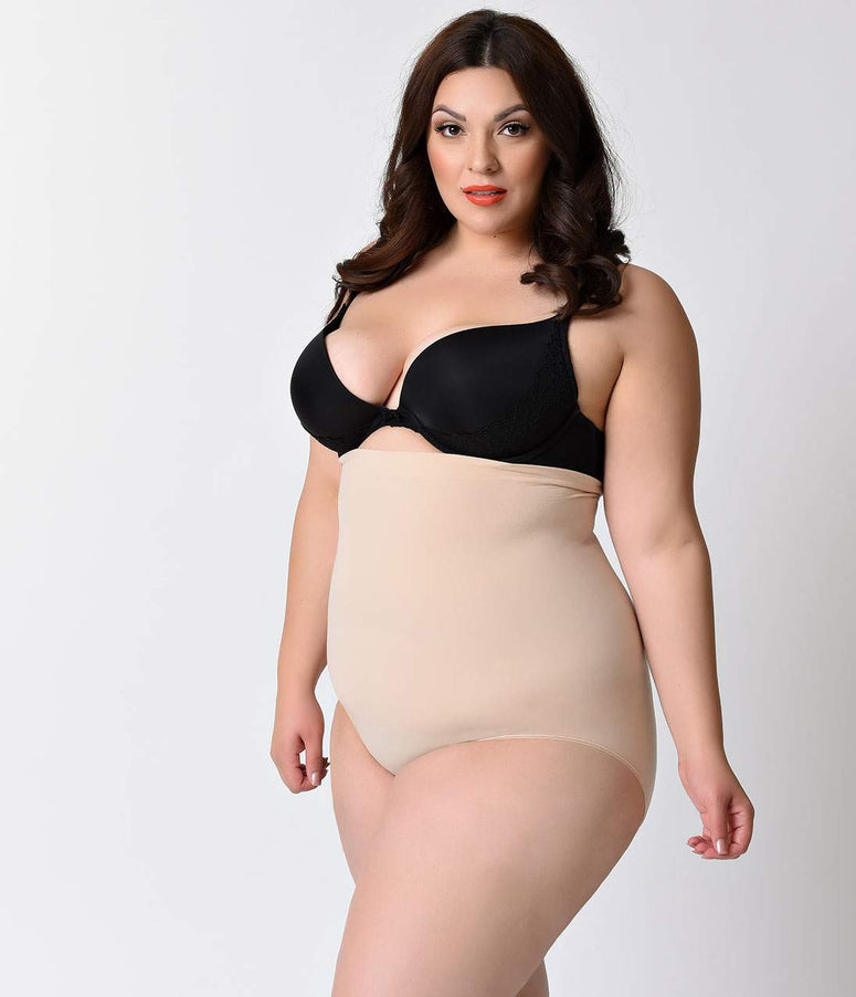 Spanx Plus Size Nude Higher Power Shaper Panties