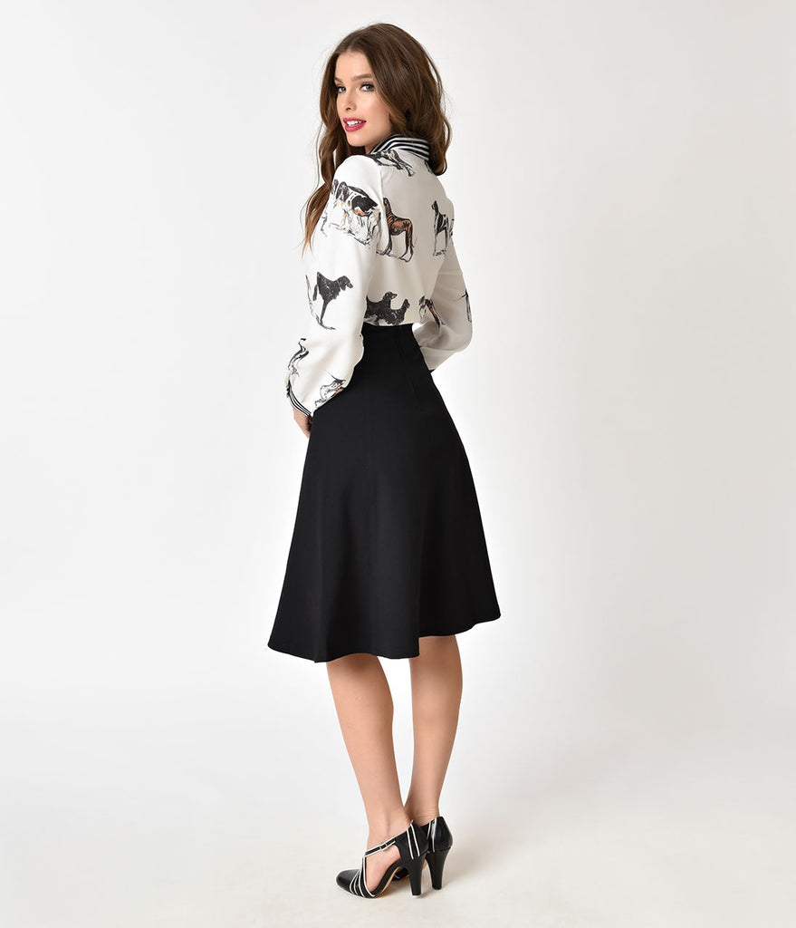 Steady Black Fit & Flare Nora Skirt