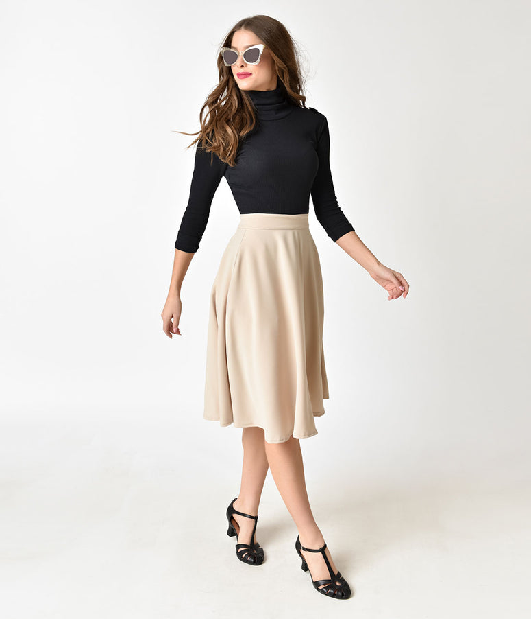 Steady Cream Stone High Waist Thrills Skirt