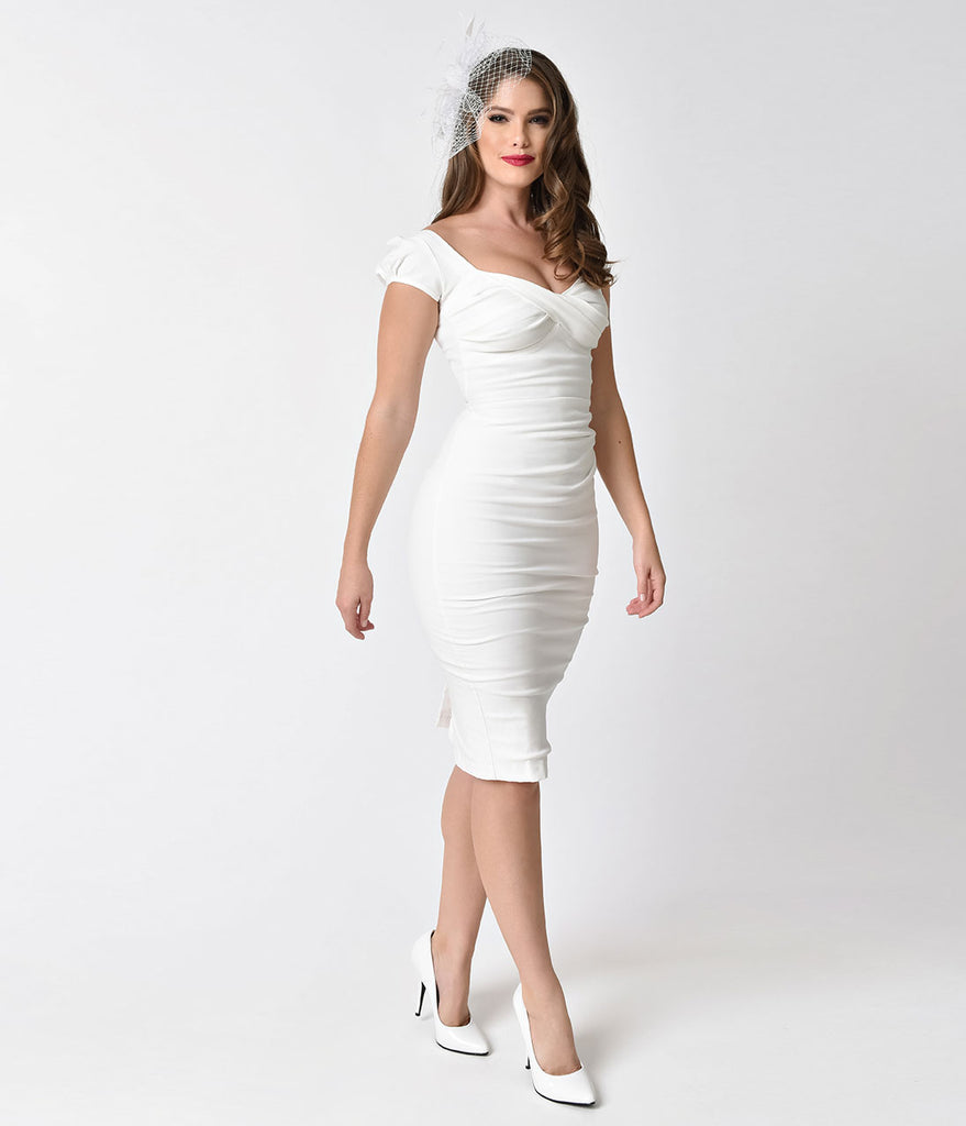 White ivory dresses cocktail