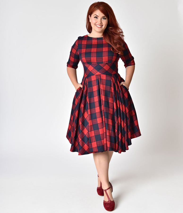 Plus Size Vintage Dresses - Swing & Pencil Dresses – Page ...