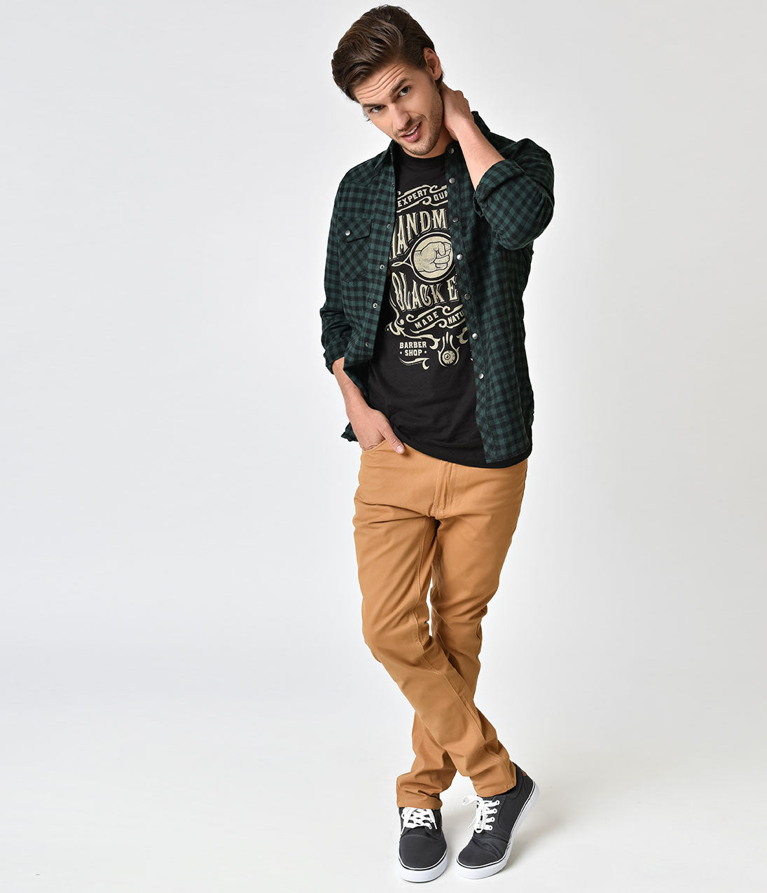 Timber Khaki Cotton Mens Pants Fabulous, retro inspired slim fitted jeans! Crafted in soft timber khaki cotton, these mens skinnies fit though out, complete with a cigarette style leg. A button fly, small zipper, pockets, and belt loops top off the look- a perfect pair of pants if we ever saw one, darlings. Available in sizes 30-38 while supplies last
