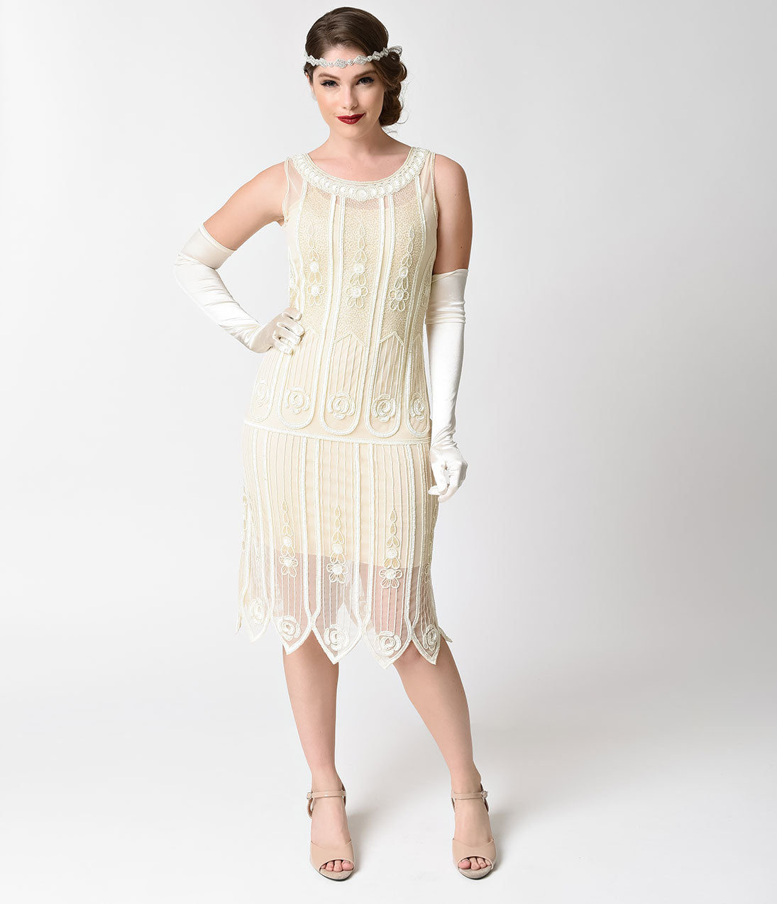 Vintage Inspired Wedding Dress | Vintage Style Wedding Dresses 1920s Steinway Flapper Dress $112.00 AT vintagedancer.com