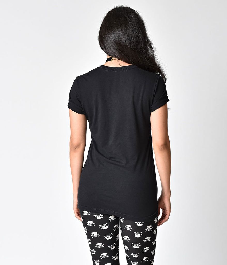 Unique Vintage Black Knit Bye Coffin Short Sleeve Unisex Tee
