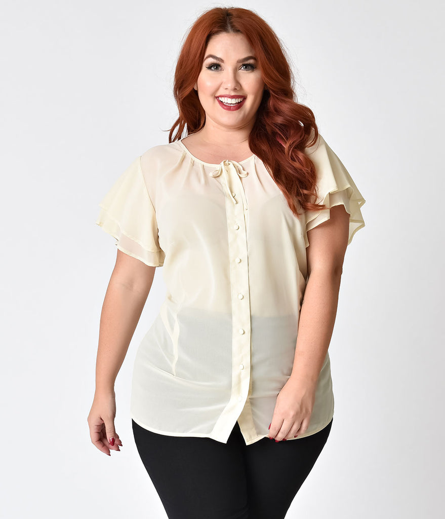 We feature chiffon blouses for both formal occasions, and for the most casual of occasions. We have chiffon blouses in inventive new styles, as well as in traditional styles. Our chiffon blouses can add an elegant look to any outfit.