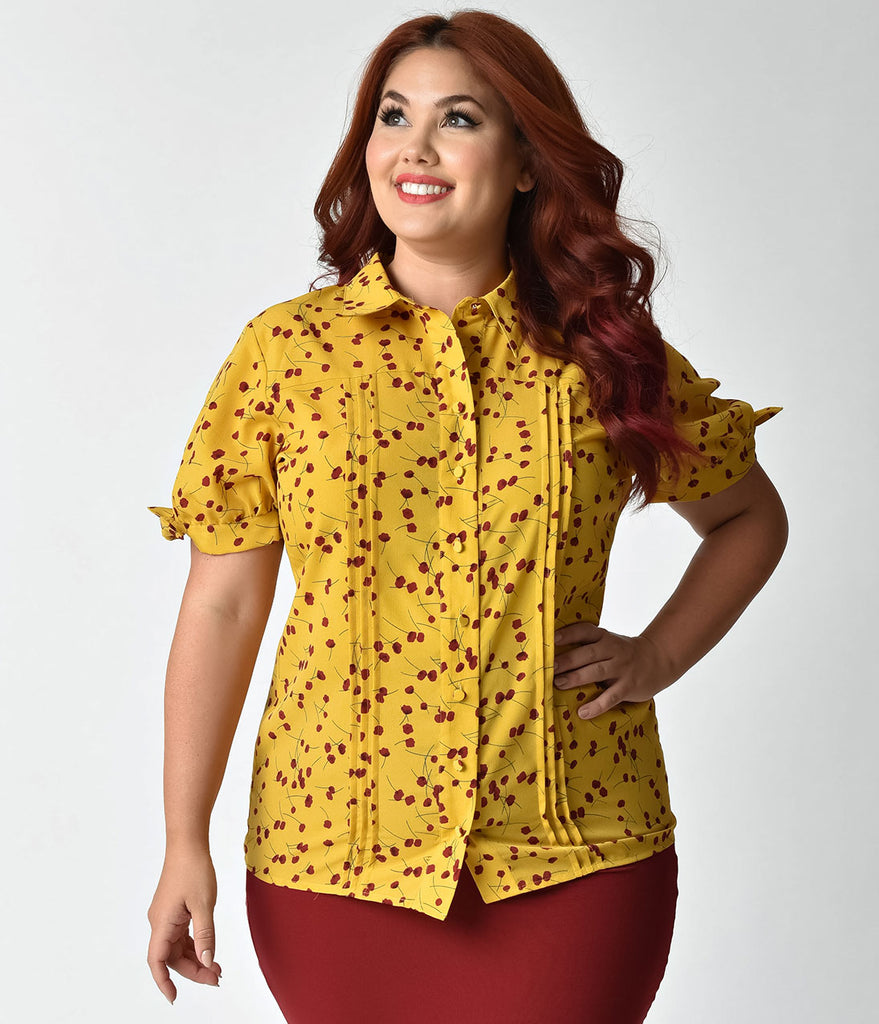 d6fc9a18c30 Mustard Color Womens Blouse
