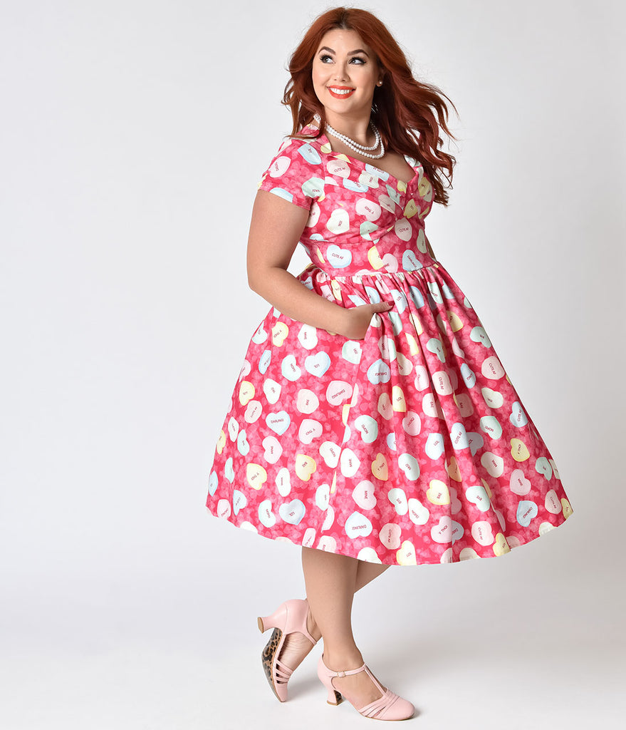 Red And White Polka Dot Swing Dress. Black And White Polka ...