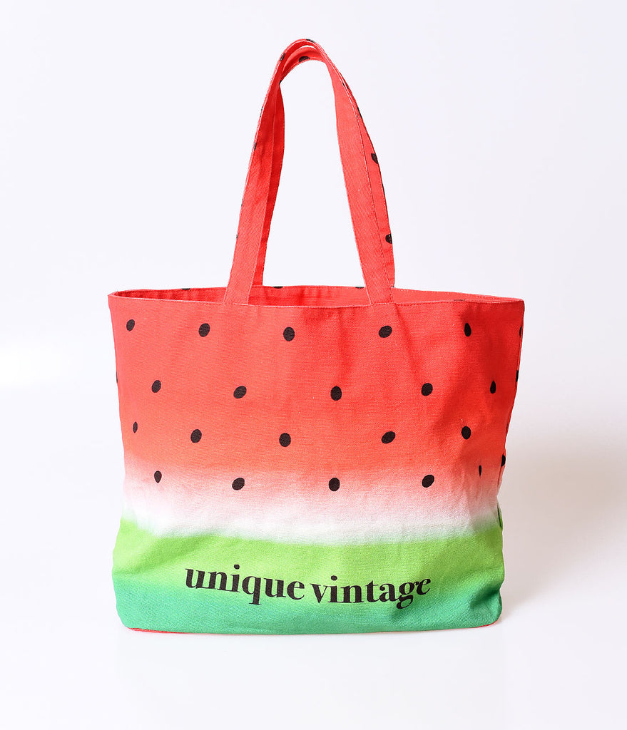 Unique Vintage Watermelon Ombre Tote