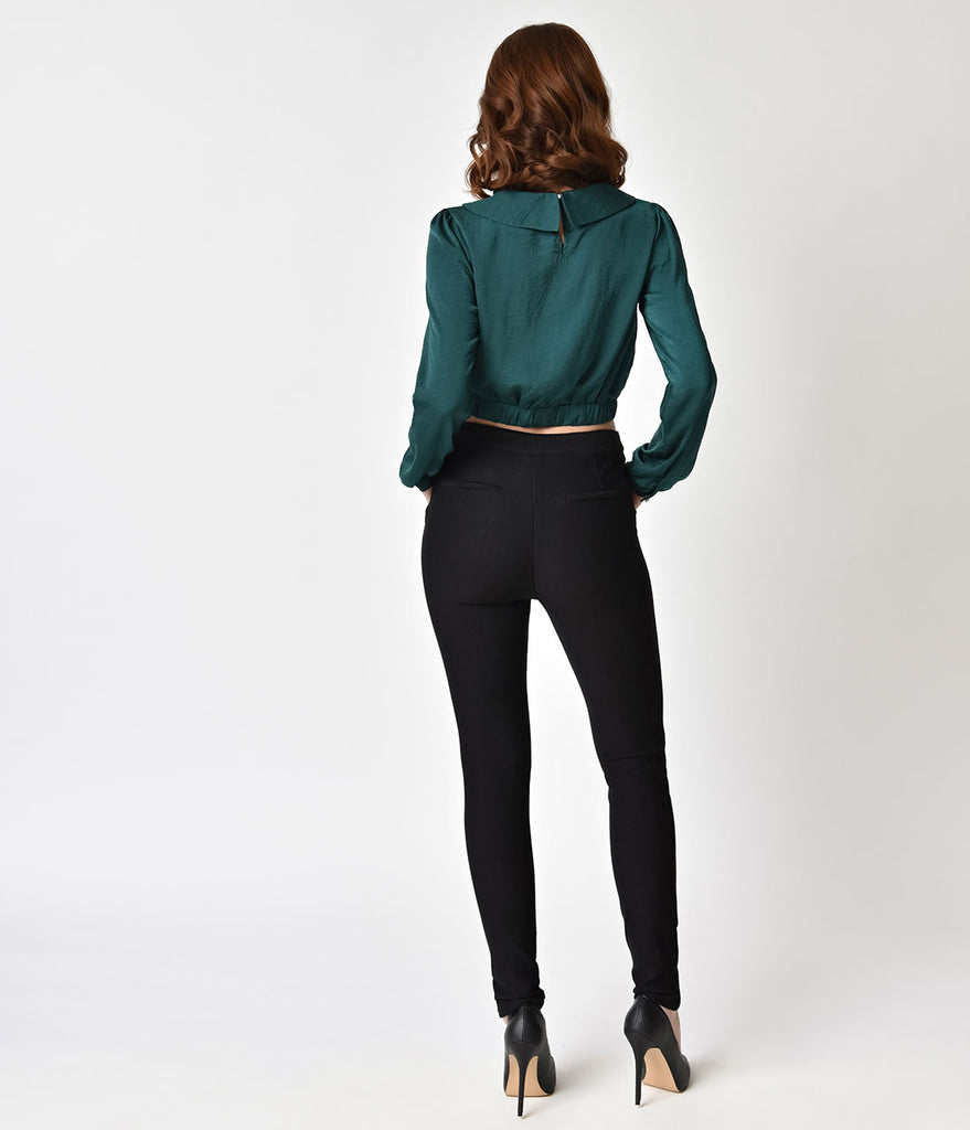 Vintage Style Black Cigarette Kyra Stretch Pants