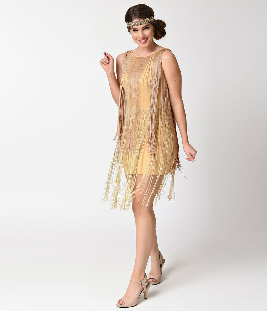 Gold Flapper Style Dress