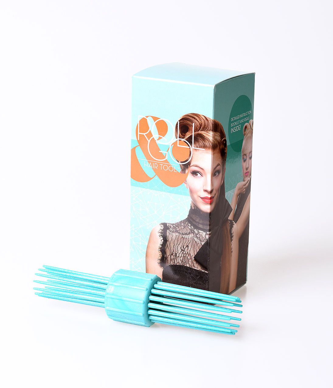 Authentic 1950s Makeup History and Tutorial Vintage Style Mint Roll  Go Hair Tool $32.00 AT vintagedancer.com