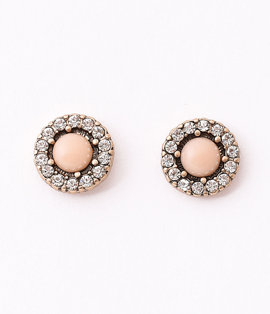 50s Jewelry: Earrings, Necklace, Brooch, Bracelet Vintage Style Pink Pearl  Silver Rhinestone Stud Earrings $16.00 AT vintagedancer.com