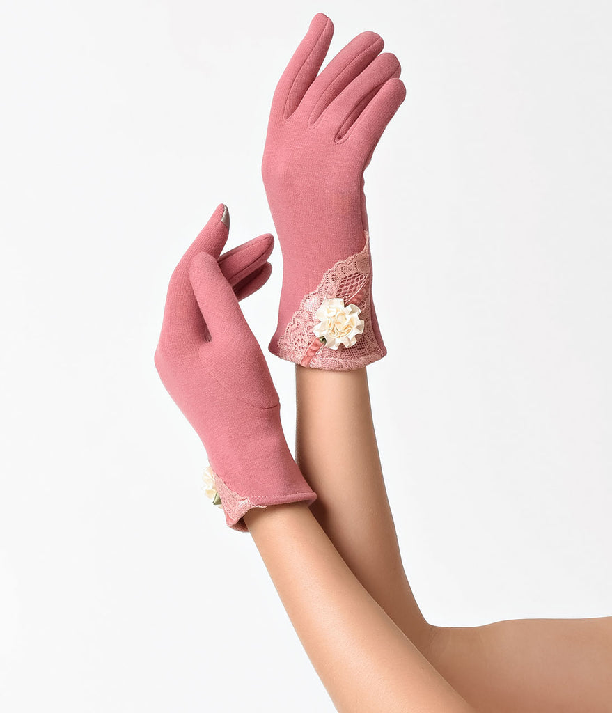 Vintage Style Pink Summer Love Gloves