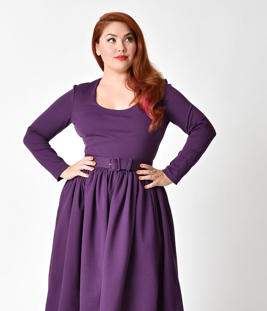 Plus Size Purple Dresses For Women - Down To Earth Bali