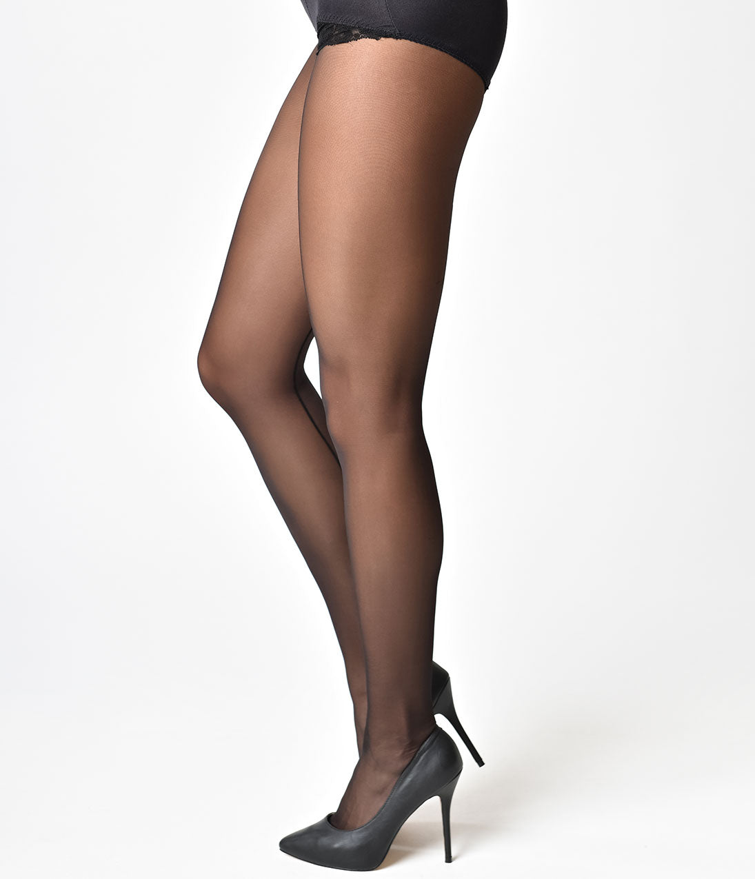 c4e1e12c1 What Katie Did Pin Up Style Nude   Black Backseam Pantyhose – Unique ...
