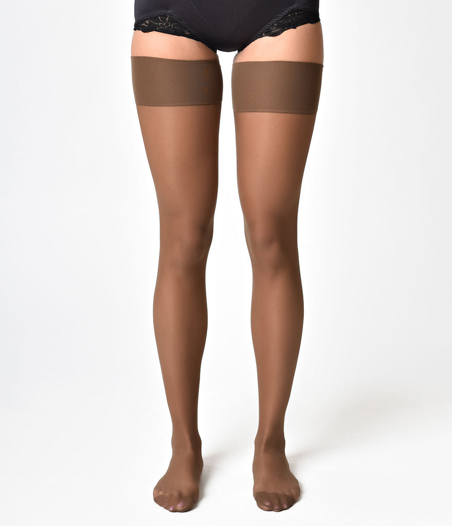 d9c9fafb520 What Katie Did Vintage Style Coffee Tan Glamour Seamed Stockings ...