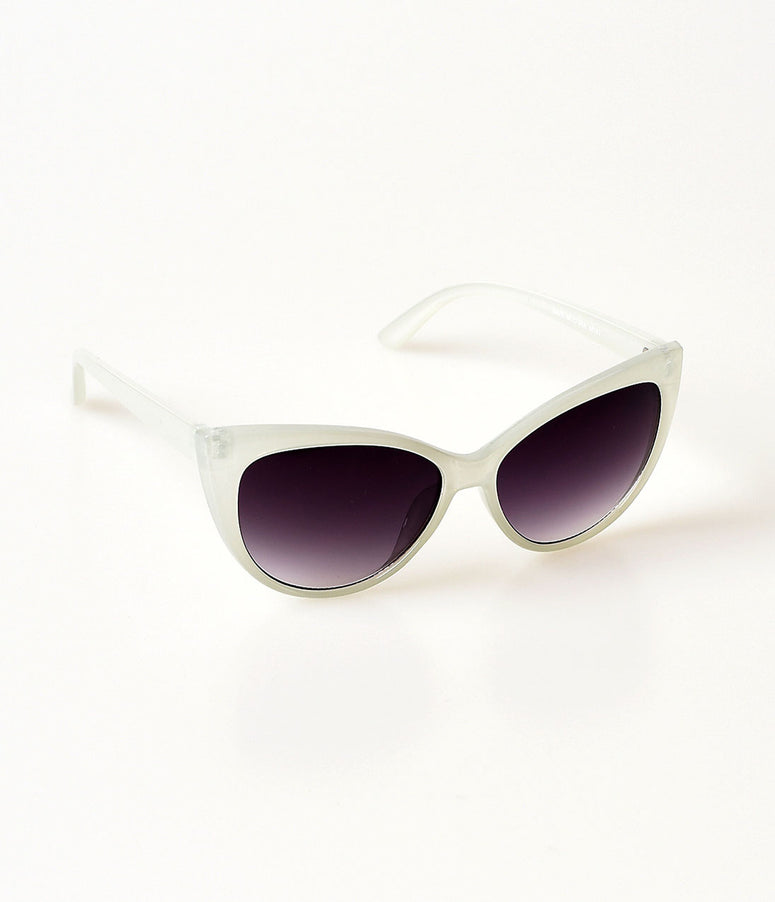 White Spicy Cateye Sunglasses