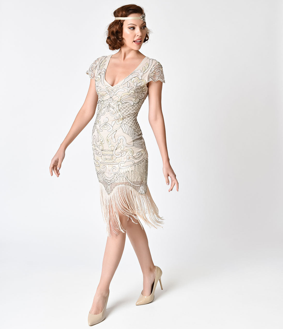 1920s Wedding Dresses- Art Deco Wedding Dress, Gatsby Wedding Dress