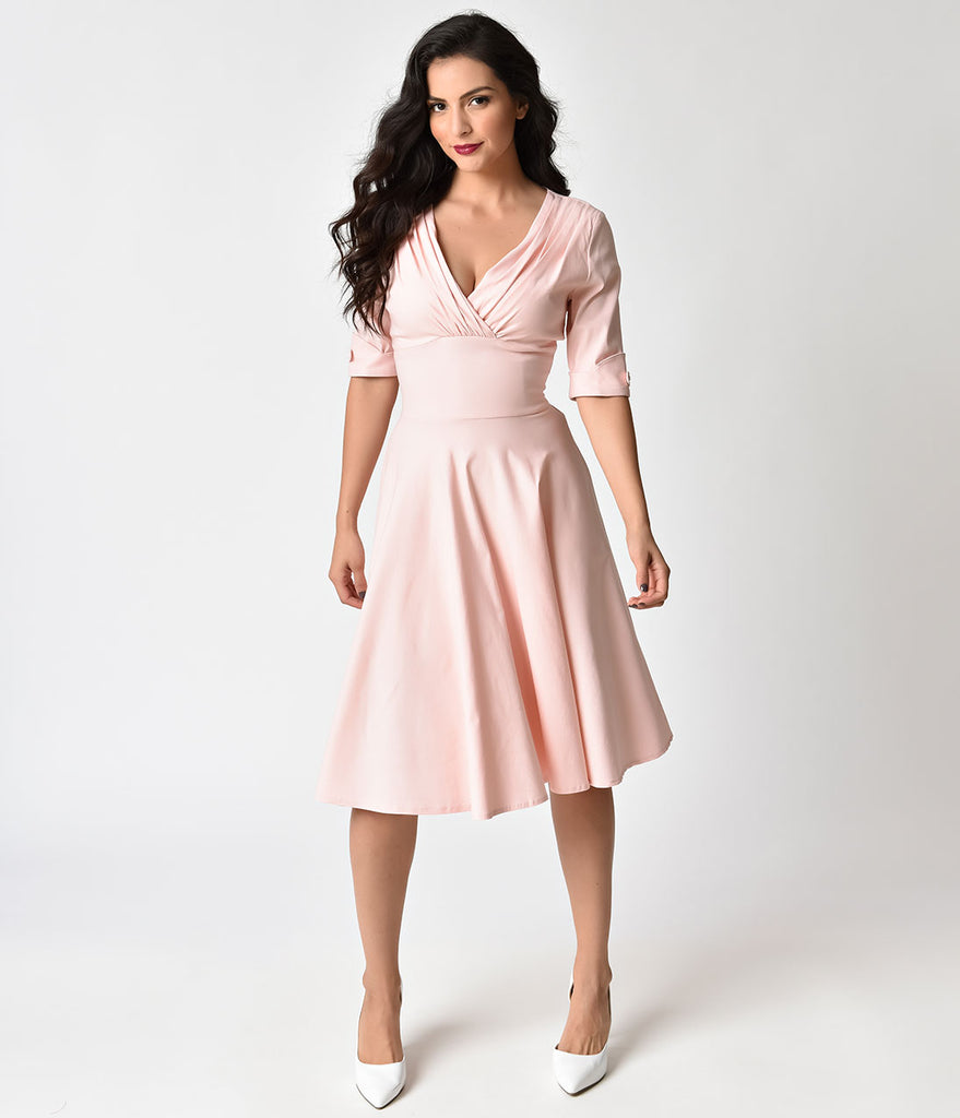 a81c1b32691d6 Shoptagr | Unique Vintage 1950s Light Pink Delores Swing Dress With ...