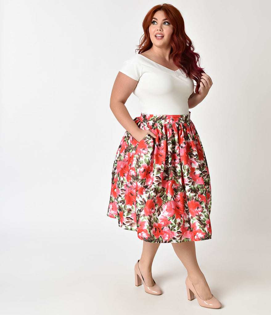 Waist High skirt plus size forecast dress in on every day in 2019