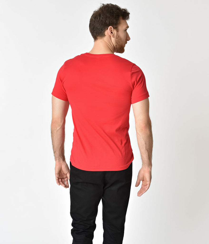 Unique Vintage Retro Red Short Sleeve Unisex Tee