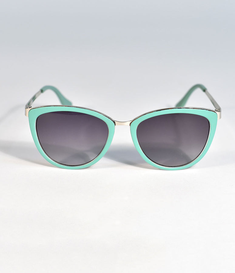 Mint Green Cannon Cat Eye Sunglasses