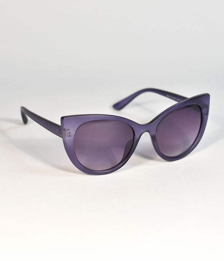 Matte Purple Buttercup Cat Eye Sunglasses