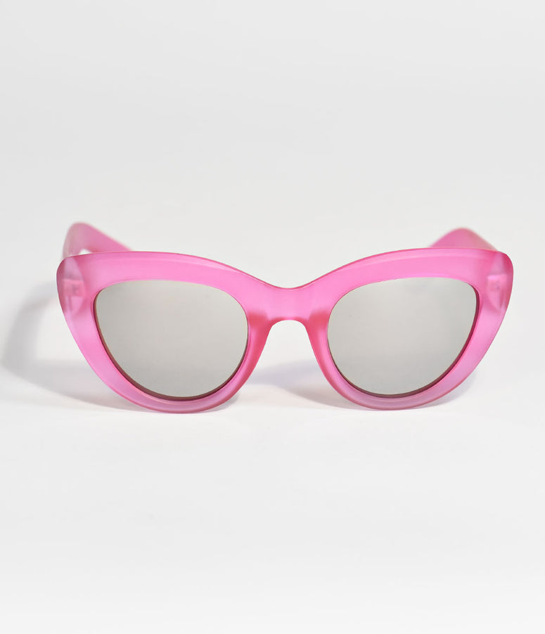Hot Pink Whew Cat Eye Sunglasses