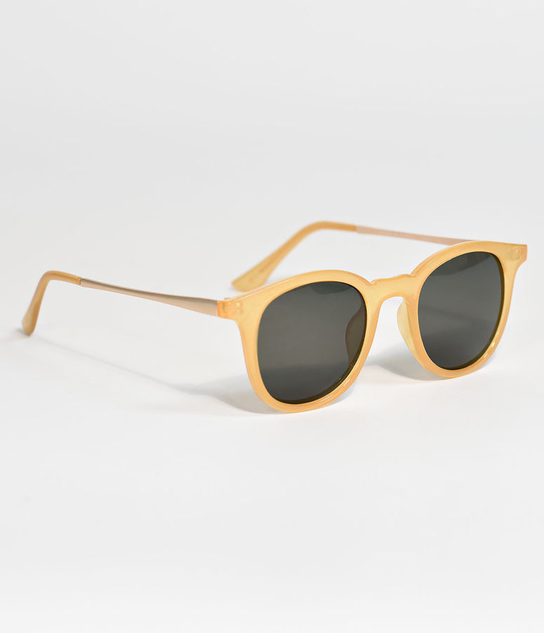 Yellow Inline Retro Sunglasses