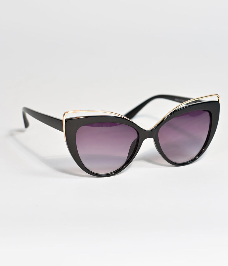Black Groovy Baby Cat Eye Sunglasses