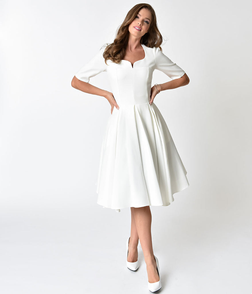 The Pretty Dress Company Ivory Sweetheart Swing Dress