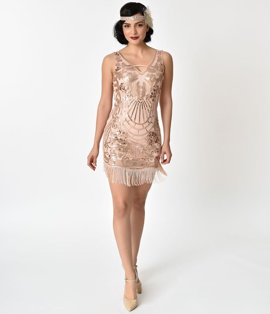 Pink and Gold Cocktail Dress