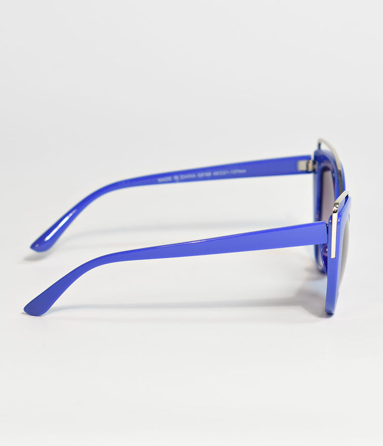 Blue Groovy Baby Cat Eye Sunglasses