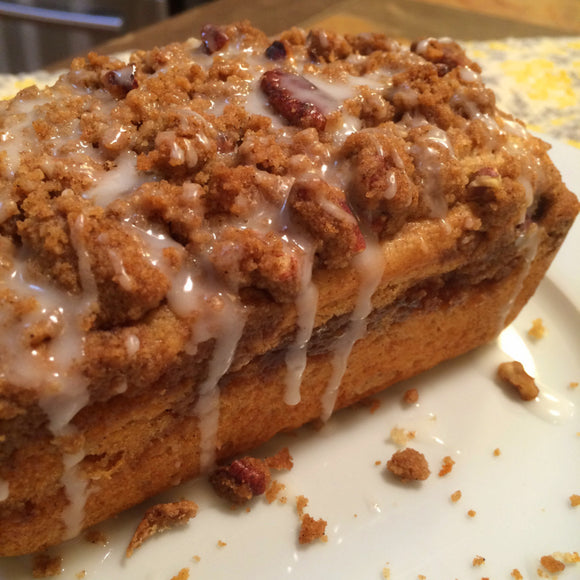 Peach Jam Streusel Mini Loaves