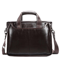 Genuine Leather Messenger Business Bag Men