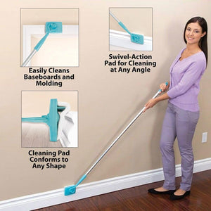 MS Tools | No-Bending Mop Kit for Cleaning Baseboards& Moldings
