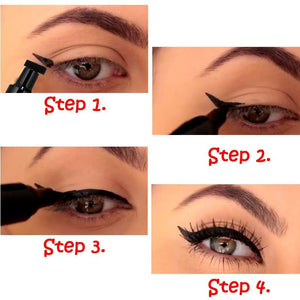 2 in 1 liquid eyeliner cat wing stamp