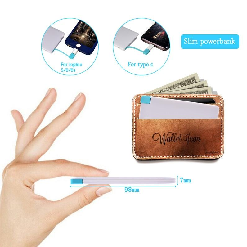 WORLD'S SLIMMEST CREDIT CARD SHAPE POWER BANK