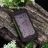 Solar Powered Power Bank  (20,000mAh) Waterproof With FREE Compass