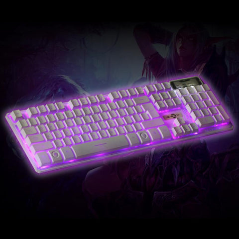 Gaming Keyboard For CS USB Wired 3 Colors Crack Illuminated LED Backlight Multimedia PC Gaming Keyboard Gamer High Quality #202