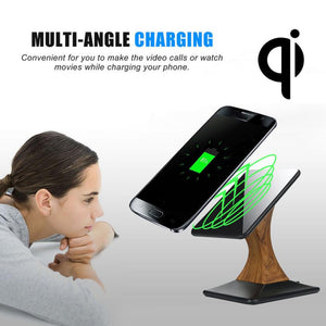 Phone Accessories 2017 Qi Wireless Charger Charging Stand Dock for Samsung Galaxy S7 / S7 Edge#25
