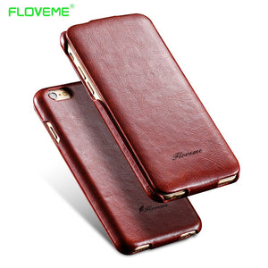 FLOVEME i5 6S Flip PU Leather Case For Apple